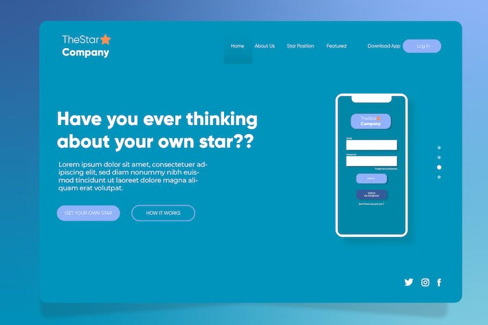Thumbnail for Company Star - Banner & Landing Page