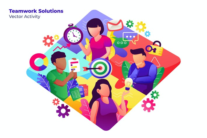 Thumbnail for Teamwork Solutions - Vector Illustration