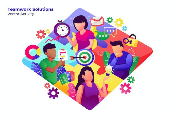 Thumbnail for Teamwork Solutions - Vector Illustration