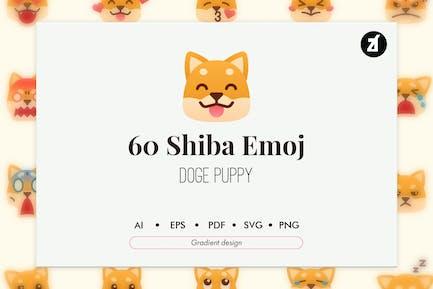 60 Shiba-Emoji-Icon-Paket