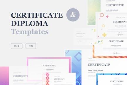 Certificate & Diploma Google Slides Templates