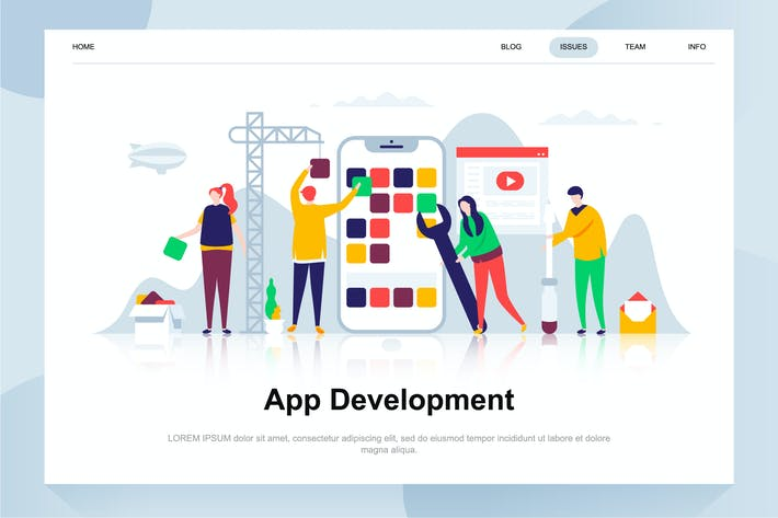 Thumbnail for App Development Flat Concept