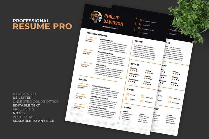 Thumbnail for Origin Resume / CV Template Pro