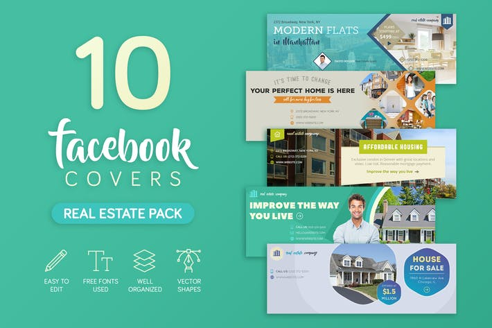 Thumbnail for Real Estate Facebook Cover