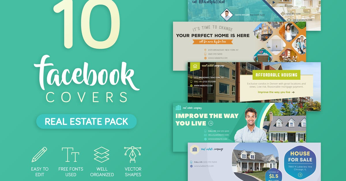 Download Real Estate Facebook Cover by brandifystudio