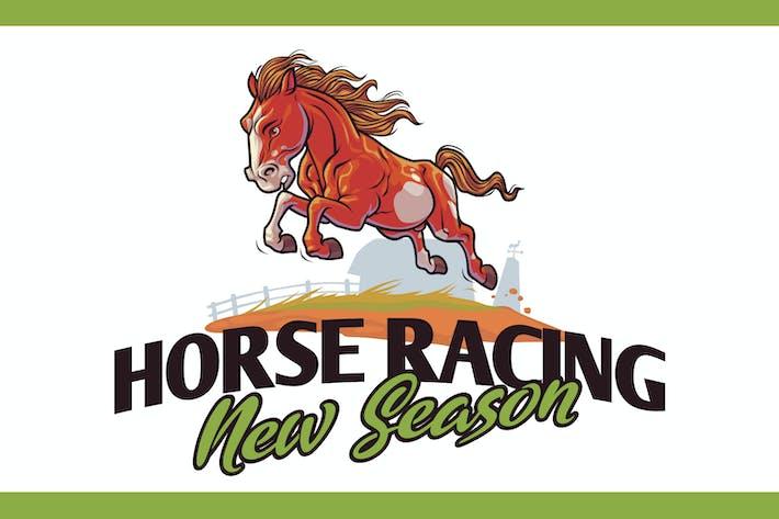 Thumbnail for Cartoon Running Horse Mascot Logo