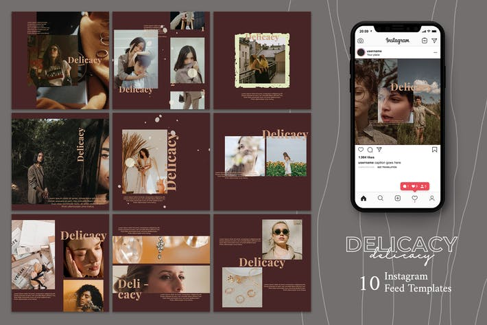 Cover Image For Delicacy - Instagram Post Template