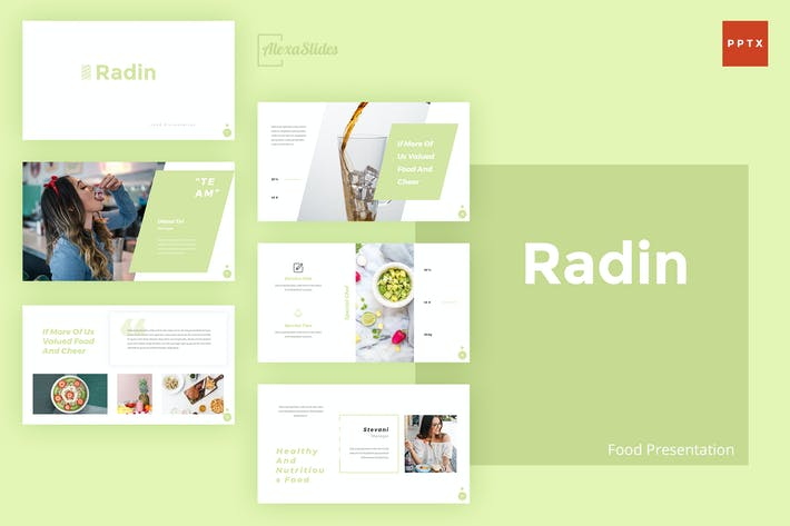 Thumbnail for Radin - Food Powerpoint Presentation Template