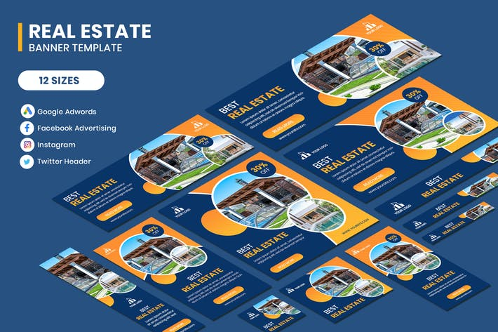 Cover Image For Real Estate Google Adwords Template