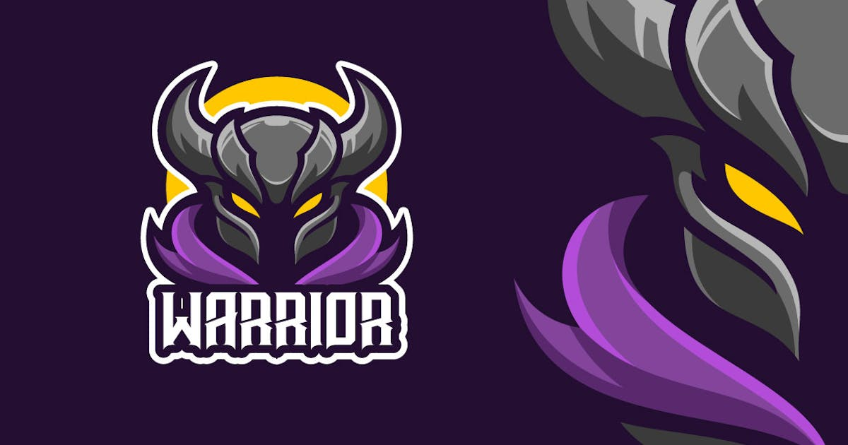 Download Knight Warrior Mascot Character Logo Template by MightyFire_STD