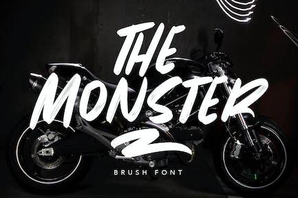 The Monster Brush Font