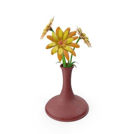 Blumenvase aus Kunststoff