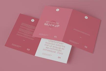 Broschüre Mockup. Ändern Sie Farben, Designs und Backg