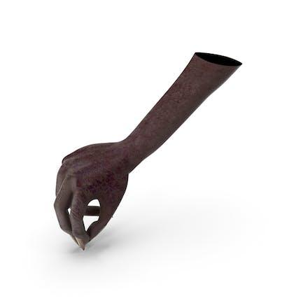 Dark Creature Hand Pouring Pinch Pose
