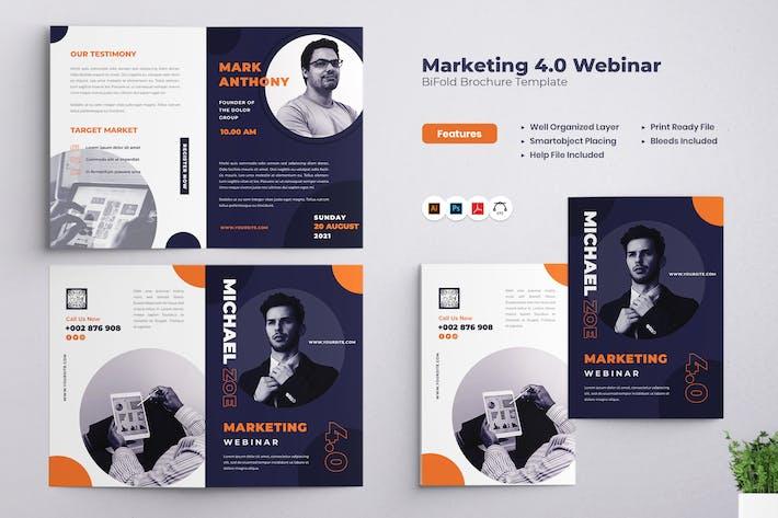 Thumbnail for Brochure à deux volets du webinaire Marketing 4.0
