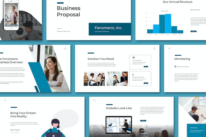 Thumbnail for Feno - Powerpoint Template