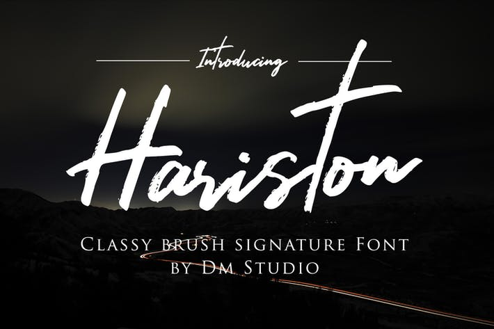 Thumbnail for Hariston - Classy Signature Font