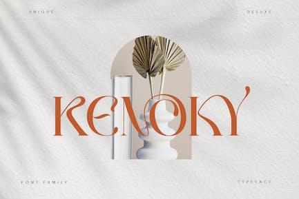 Tipo de letra Kenoky