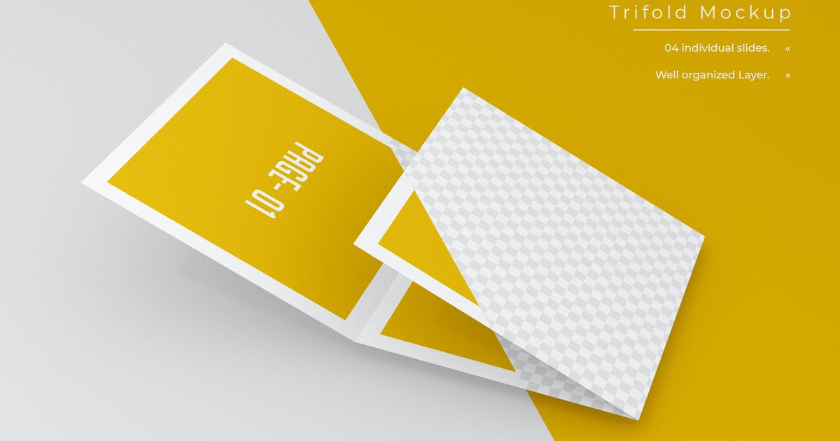 Download Square Trifold Brochure Mockup - Vol 04 by xvector-team