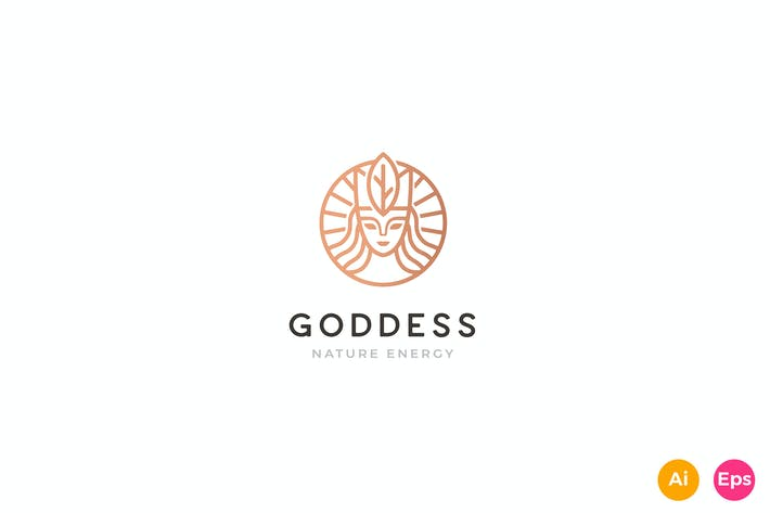 Thumbnail for Earth Goddess, Queen, nature Logo Template