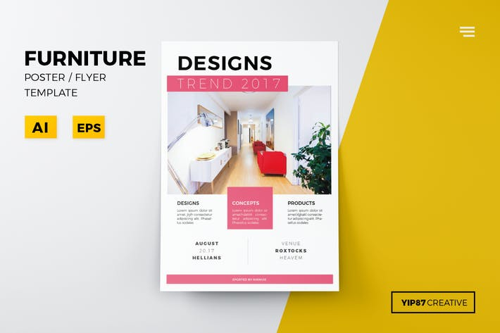 15 graphic templates compatible with adobe illustrator tagged with furniture