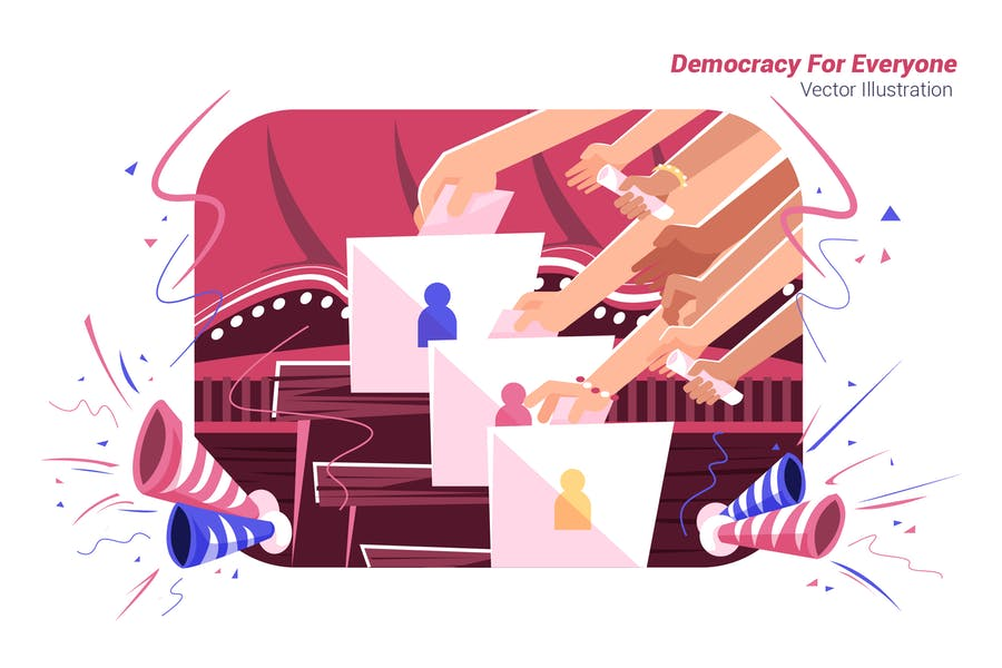Democracy For Everyone - Vector Illustration