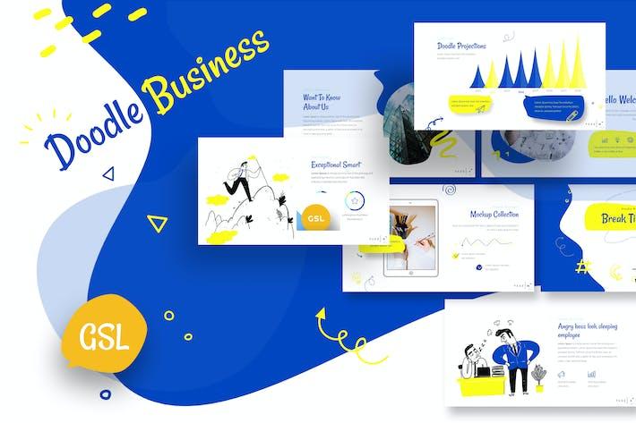 Thumbnail for Doodle Business Google Slides Template