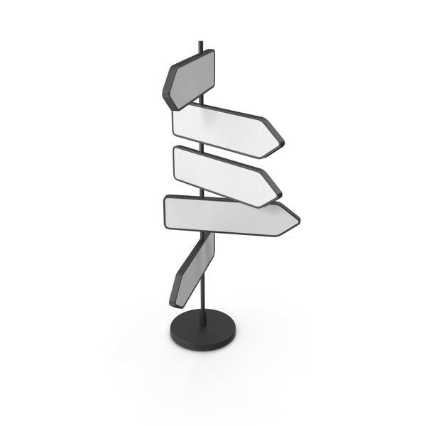 Schwarz-Weiß-Grafik-Straßenschild