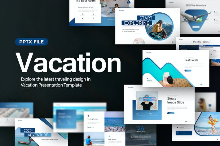 Thumbnail for Vacation Traveling Presentation Template