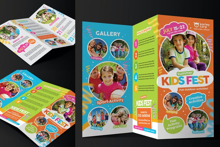 Thumbnail for Kids Summer Camp Trifold
