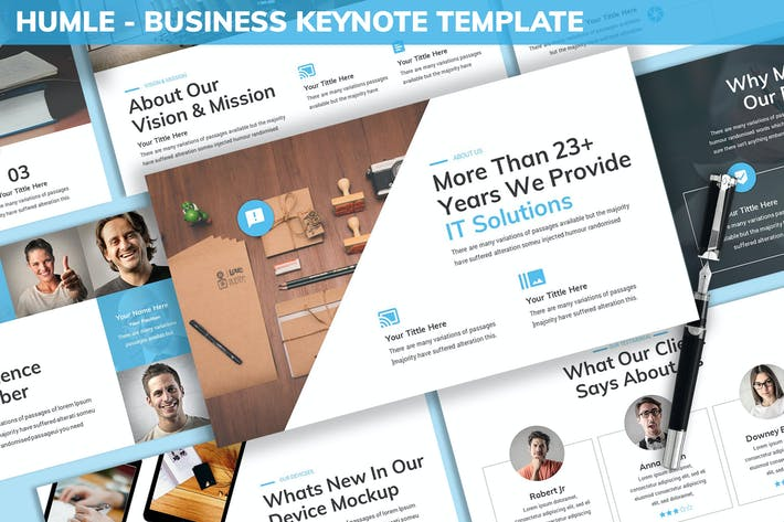 Thumbnail for Humle - Business Keynote Template