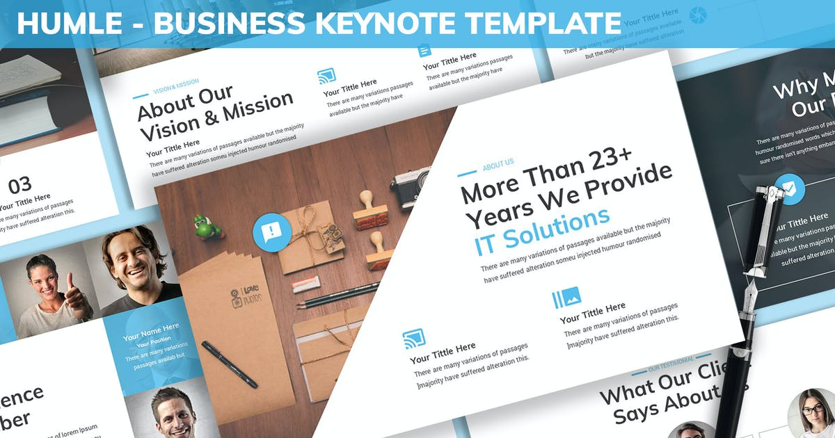 Download Humle - Business Keynote Template by SlideFactory