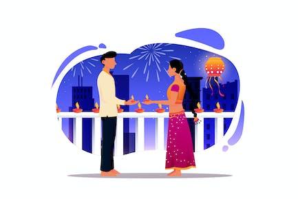 Deepawali-Festival-Illustration
