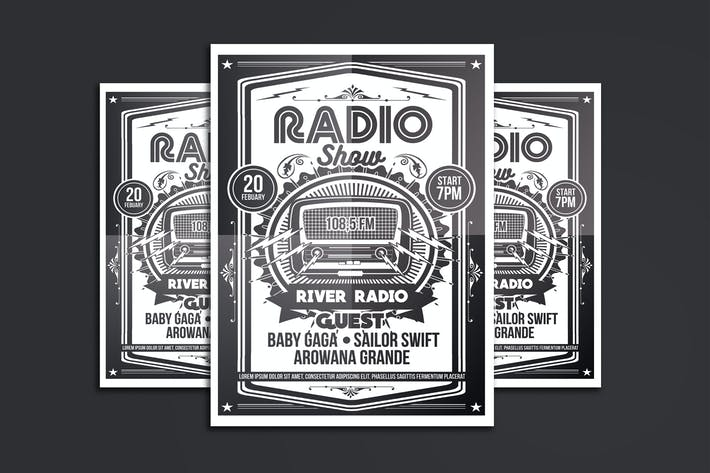 Thumbnail for Radio Show Flyer Poster