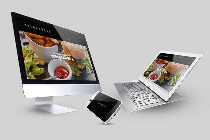 Thumbnail for Multi Devices Responsive Website Mockup Pack
