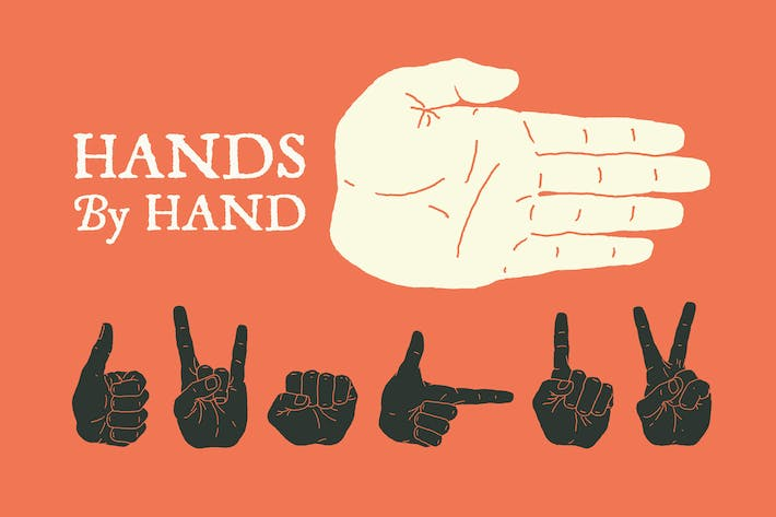 Thumbnail for Hand Illustrated Hands and Fists