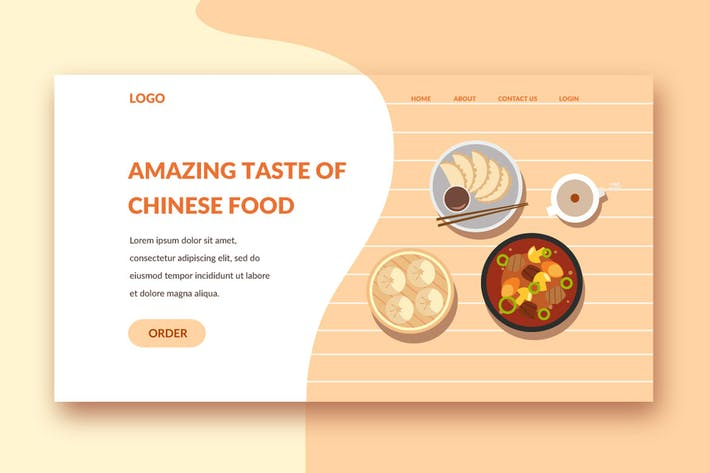 Lebensmittel-Landing-Page-Vorlage