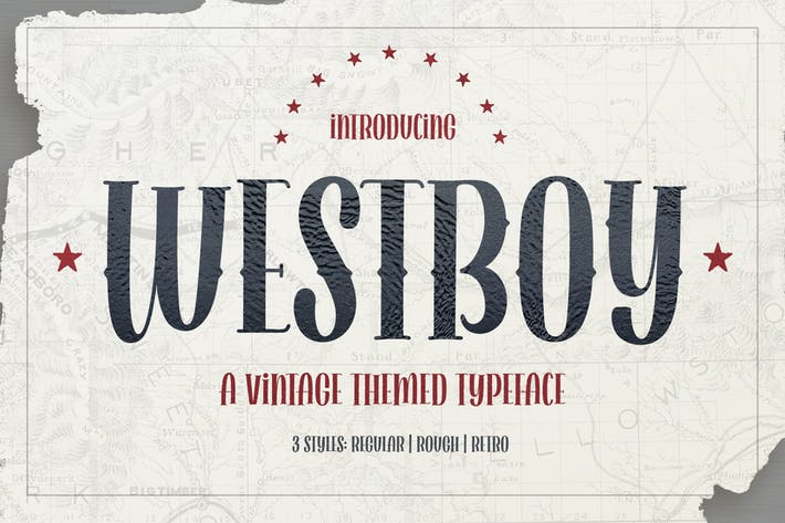 Thumbnail for Westboy - Vintage Themed Font