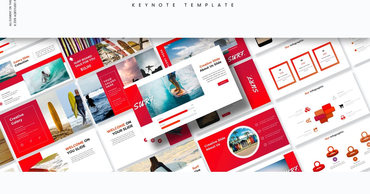Download Surf - Keynote Template by aqrstudio