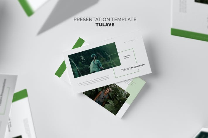 Thumbnail for Tulave : Green Gradient Color Tone Keynote