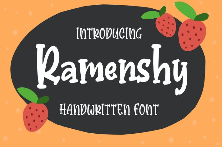 Thumbnail for Ramenshy - Handwritten Font