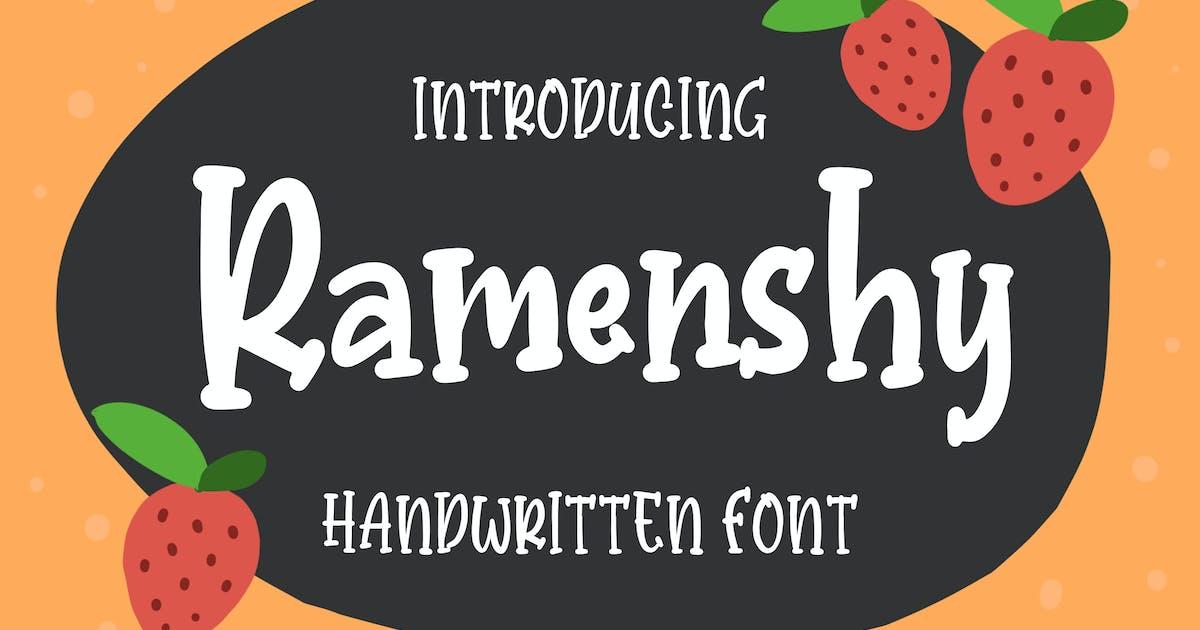 Download Ramenshy - Handwritten Font by Blankids