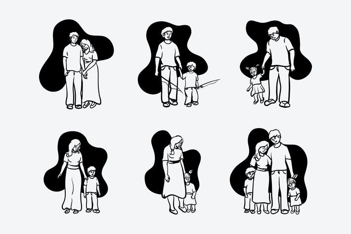 Thumbnail for Семья - Иллюстрация Doodle
