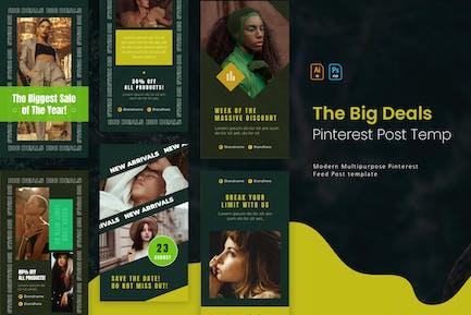 Big Deals | Pinterest Post Template