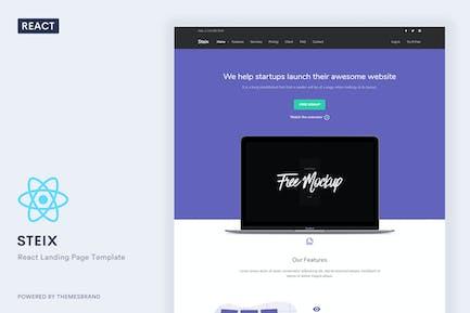 Steix React - Landing Page Template