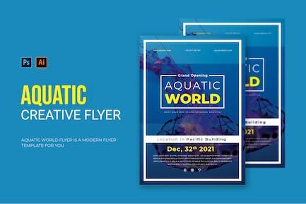 Aquatic World - Flyer
