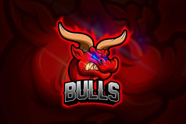 Cover Image For Bulls - Mascot & Esport Logo