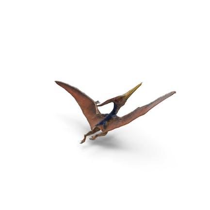 Pteranodon Fliegende Pose mit Fell