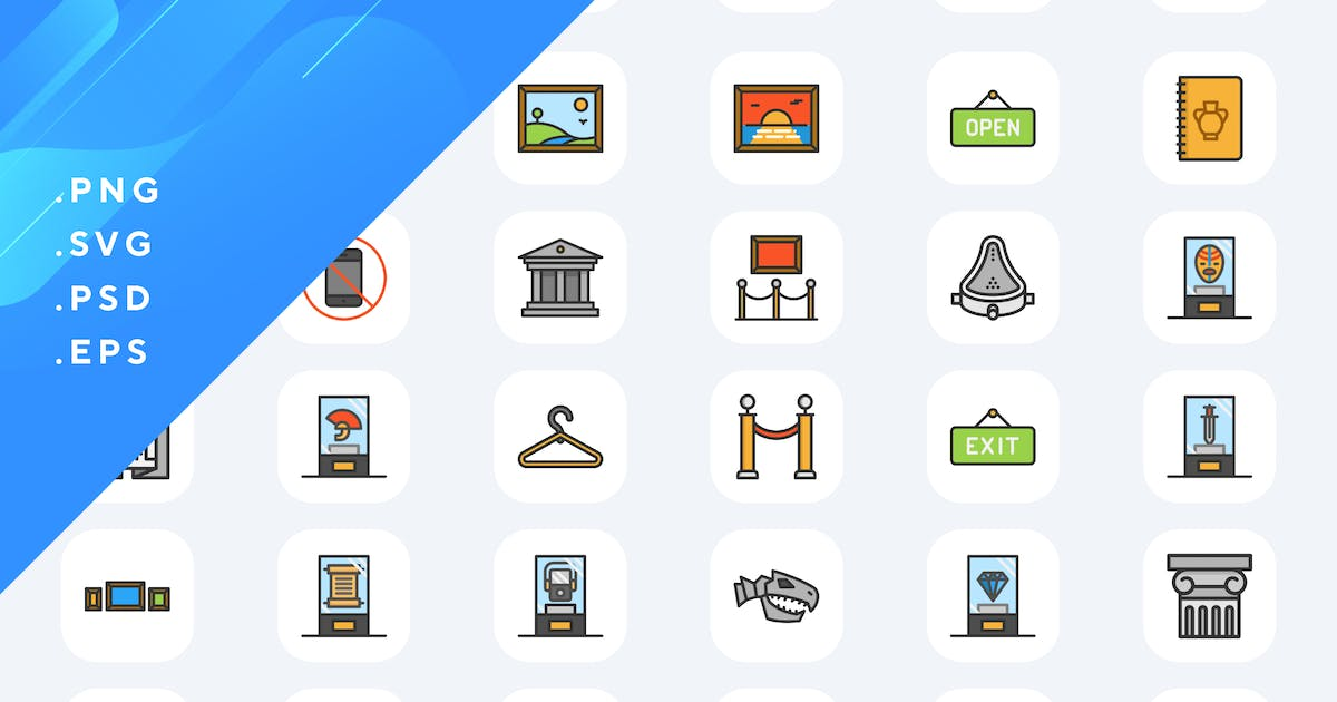 Download 50 Museum Icons by Guapoo