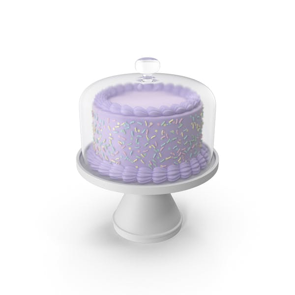 Thumbnail for Purple Cake With Glass Dome